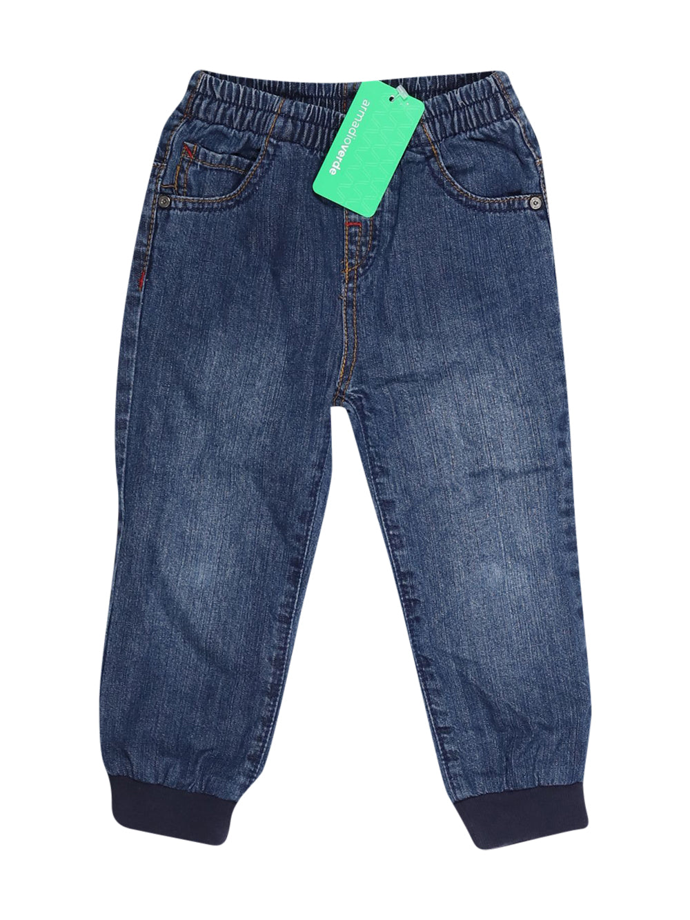 Front photo of Preloved Chicco Blue Girl's trousers - size 18-24 mths