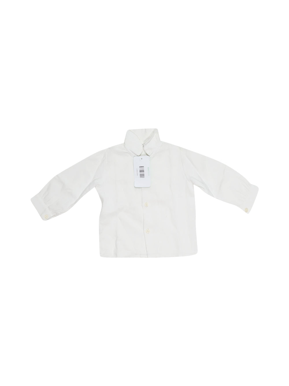 Front photo of Preloved De Stales White Girl's shirt - size 12-18 mths
