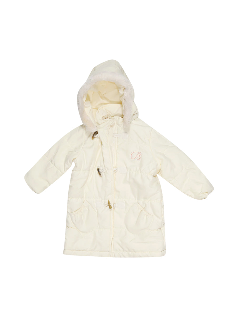 Front photo of Preloved Chicco White Girl's coat - size 12-18 mths