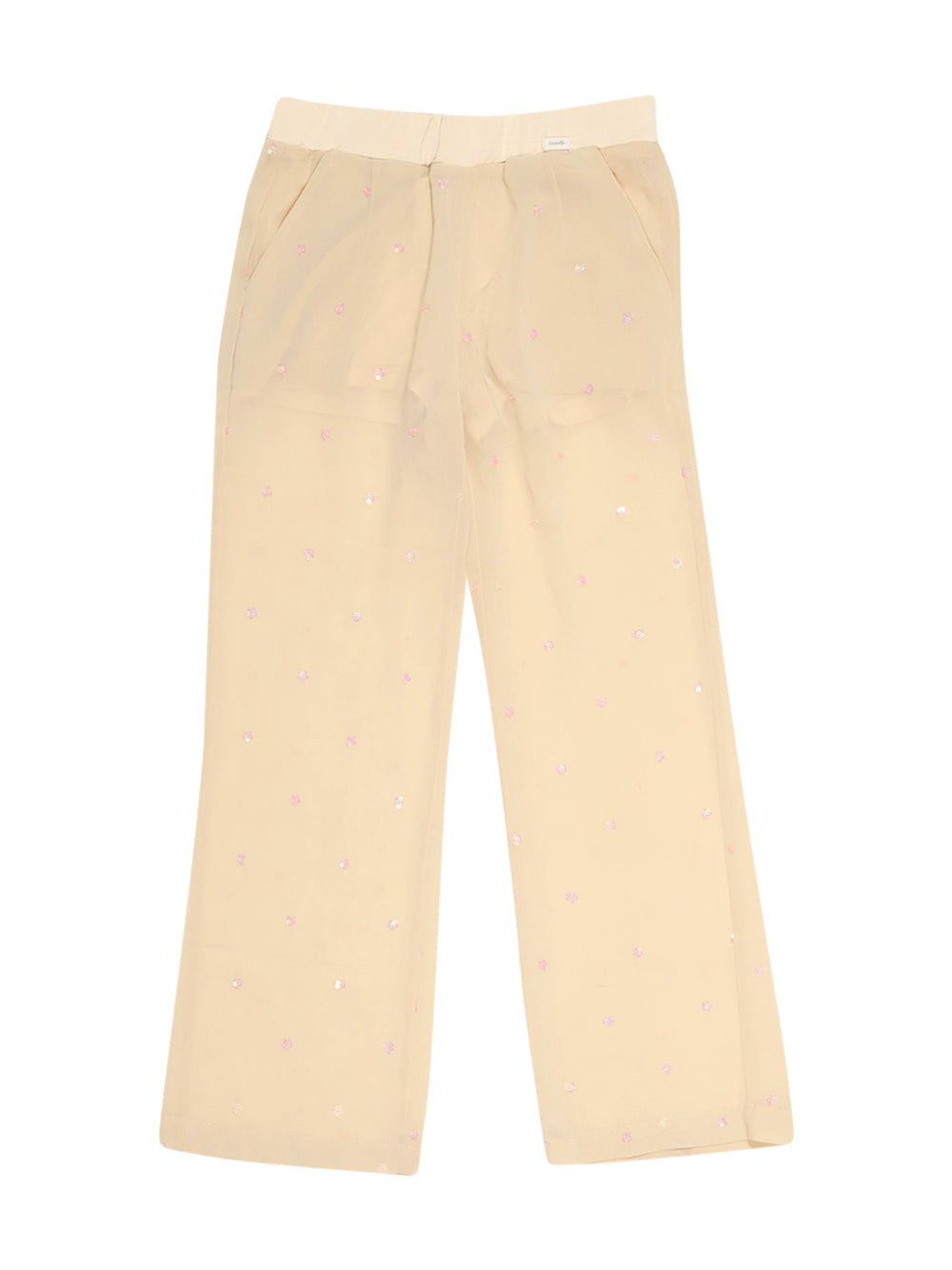 Front photo of Preloved Silvian Heach Beige Girl's trousers - size 7-8 yrs