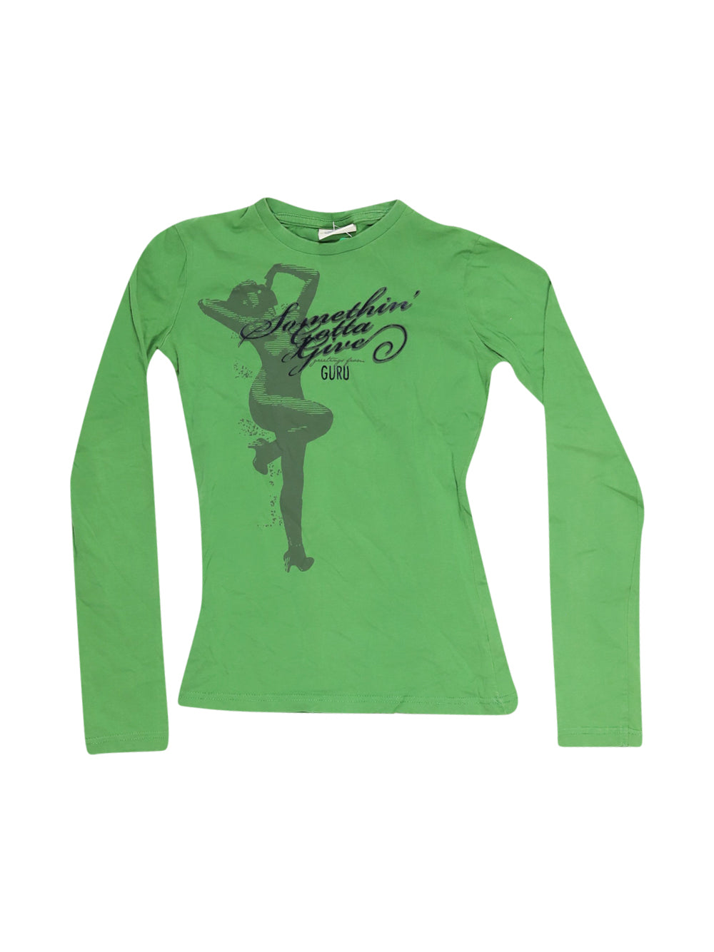 Front photo of Preloved Guru Green Girl's long sleeved shirt - size 9-10 yrs