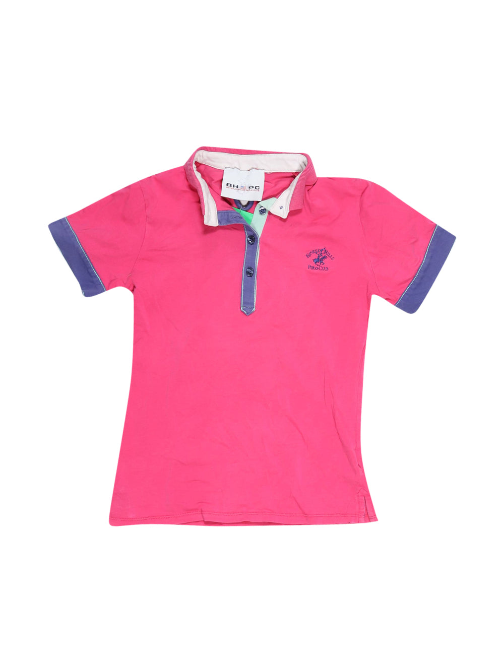 Front photo of Preloved Beverly Hills Polo Club Pink Girl's polo - size 10-12 yrs
