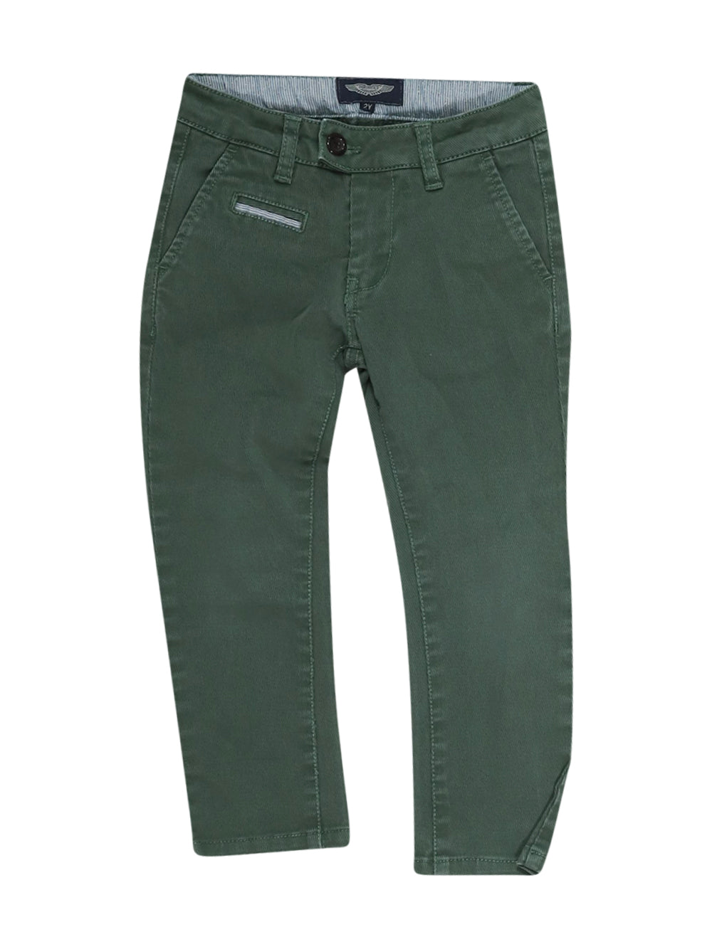 Front photo of Preloved Aston Martin Green Boy's trousers - size 18-24 mths