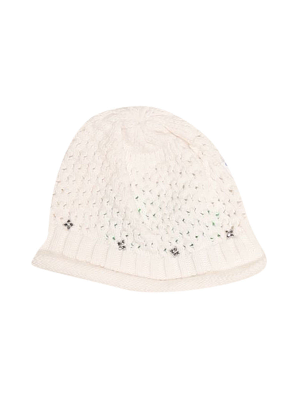 Front photo of Preloved Magnolia White Girl's hat - size 12-18 mths