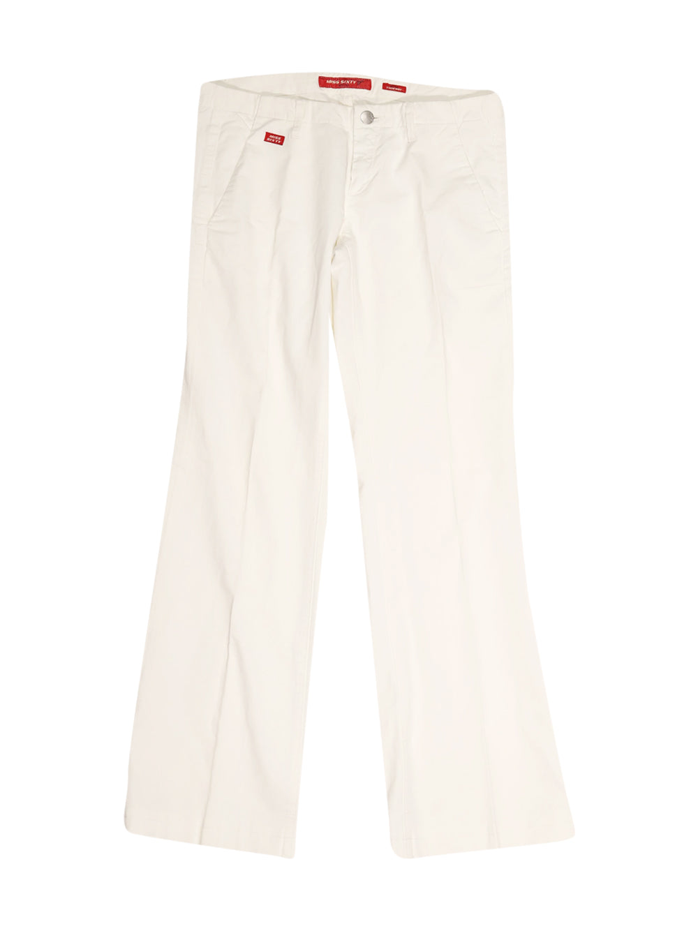 Front photo of Preloved Miss Sixty White Woman's trousers - size 8/S