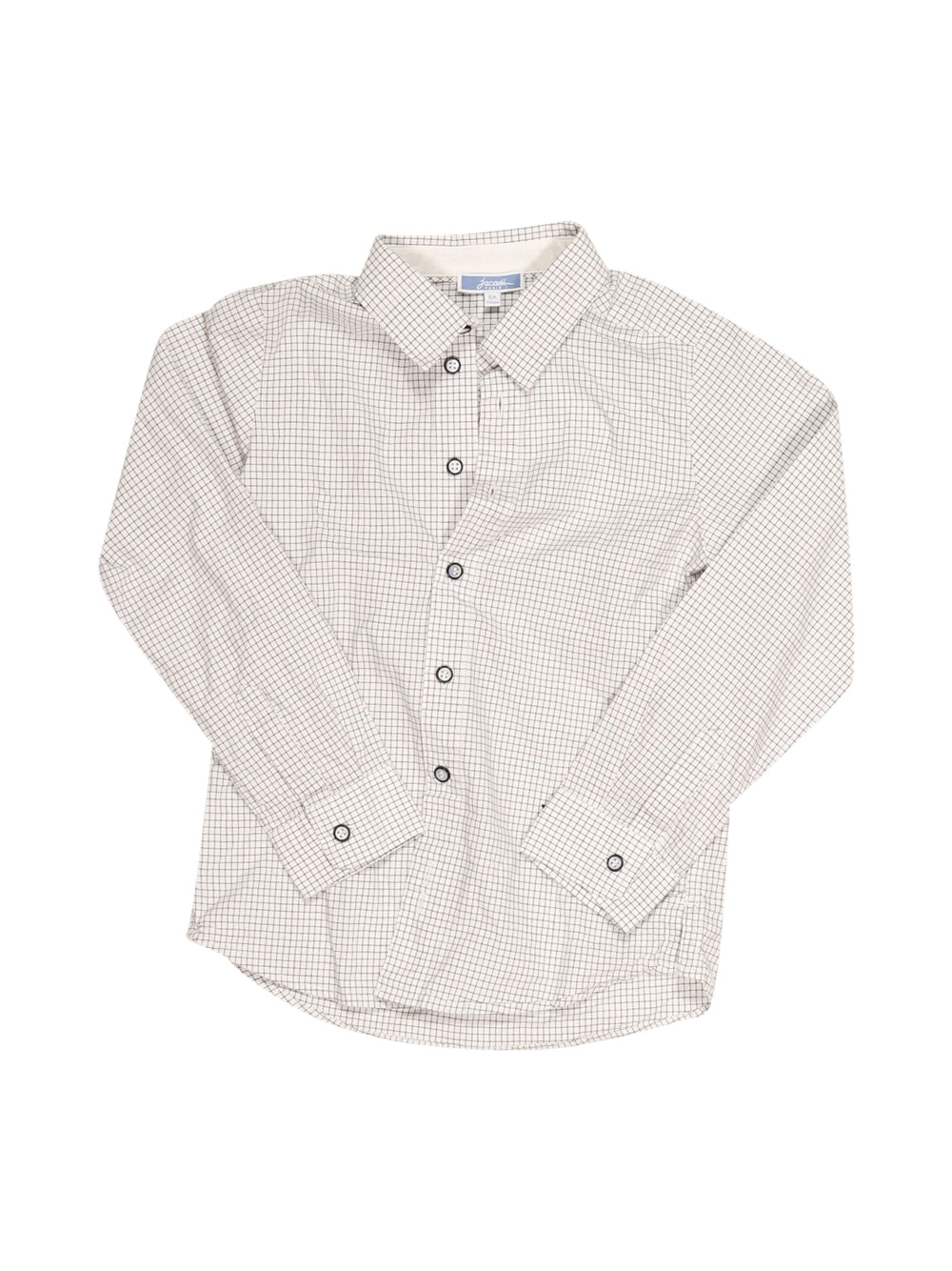 Front photo of Preloved Jacadi White Boy's shirt - size 5-6 yrs