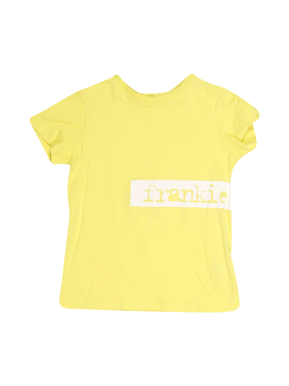Front photo of Preloved Frankie Morello Yellow Boy's t-shirt - size 7-8 yrs