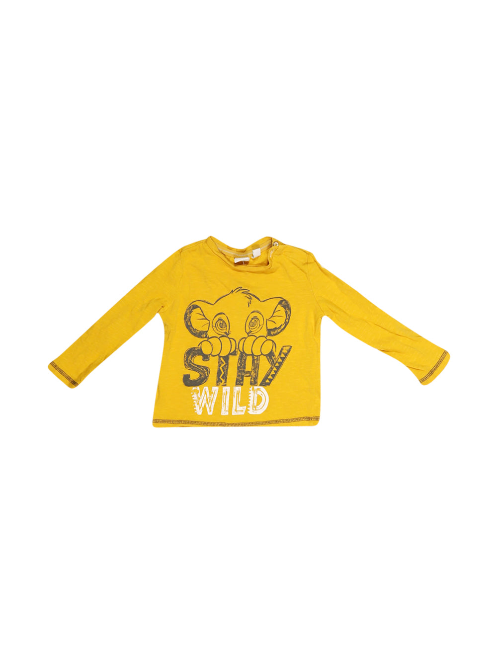 Front photo of Preloved Disney Yellow Boy's long sleeved shirt - size 12-18 mths
