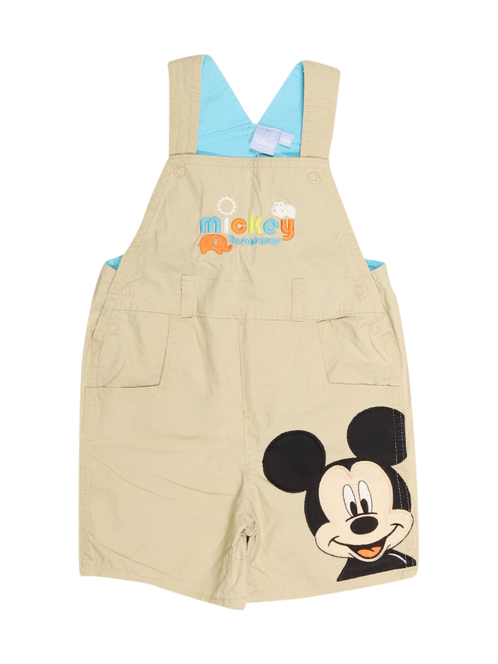 Front photo of Preloved Disney Beige Boy's overalls - size 12-18 mths