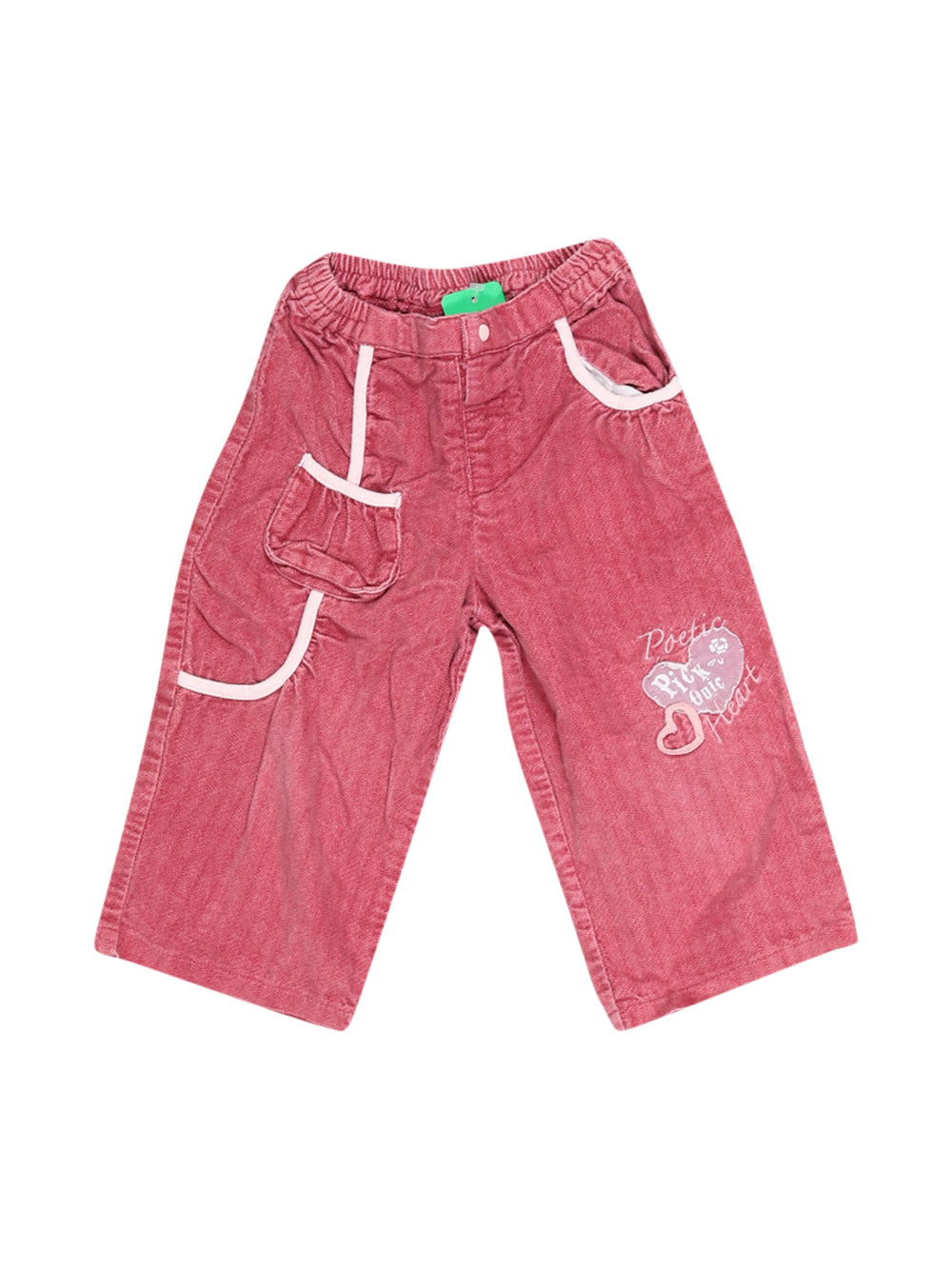 Front photo of Preloved pick ouic Pink Girl's trousers - size 18-24 mths