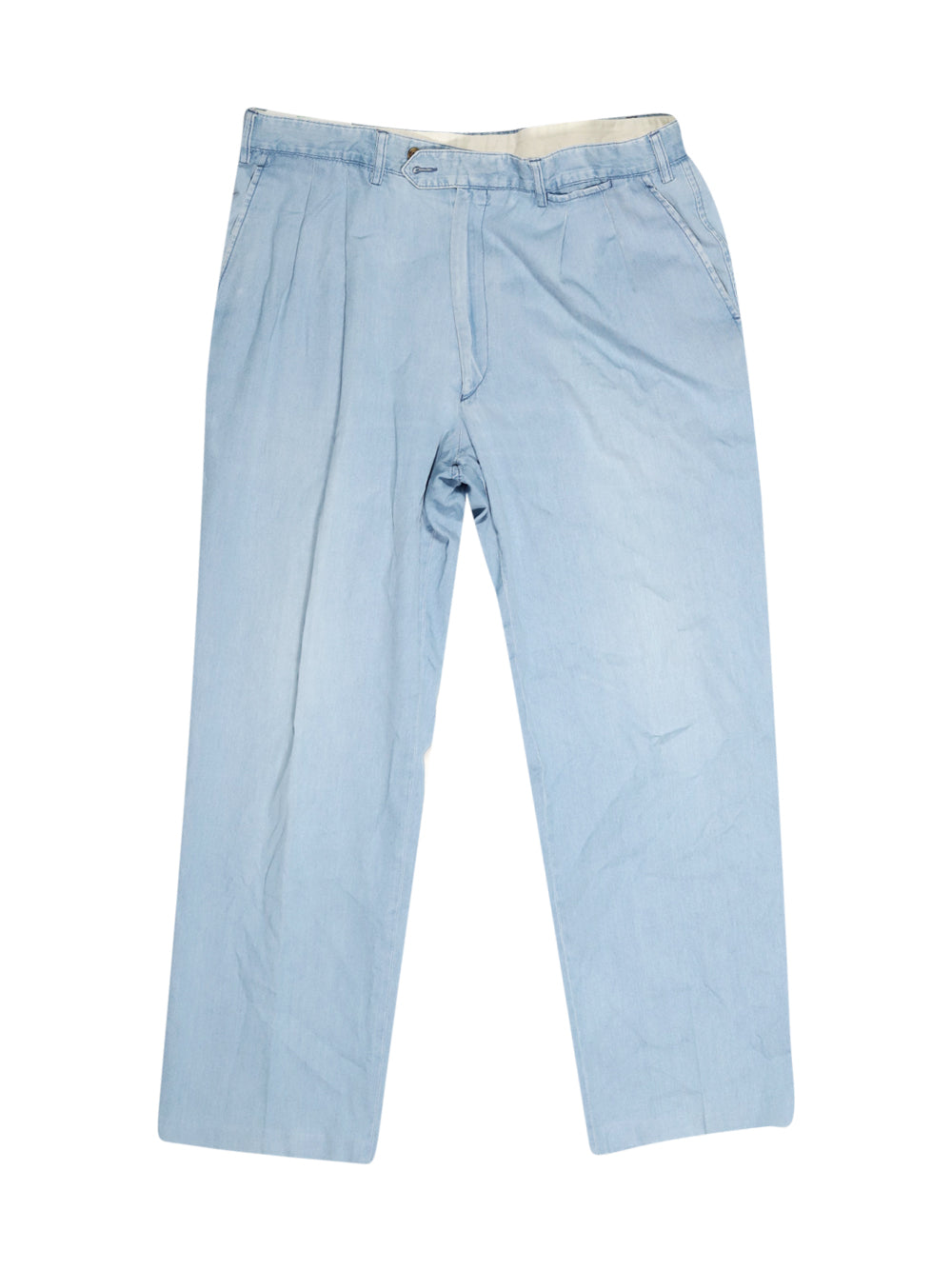 Front photo of Preloved santino Light-blue Man's trousers - size 44/XXL