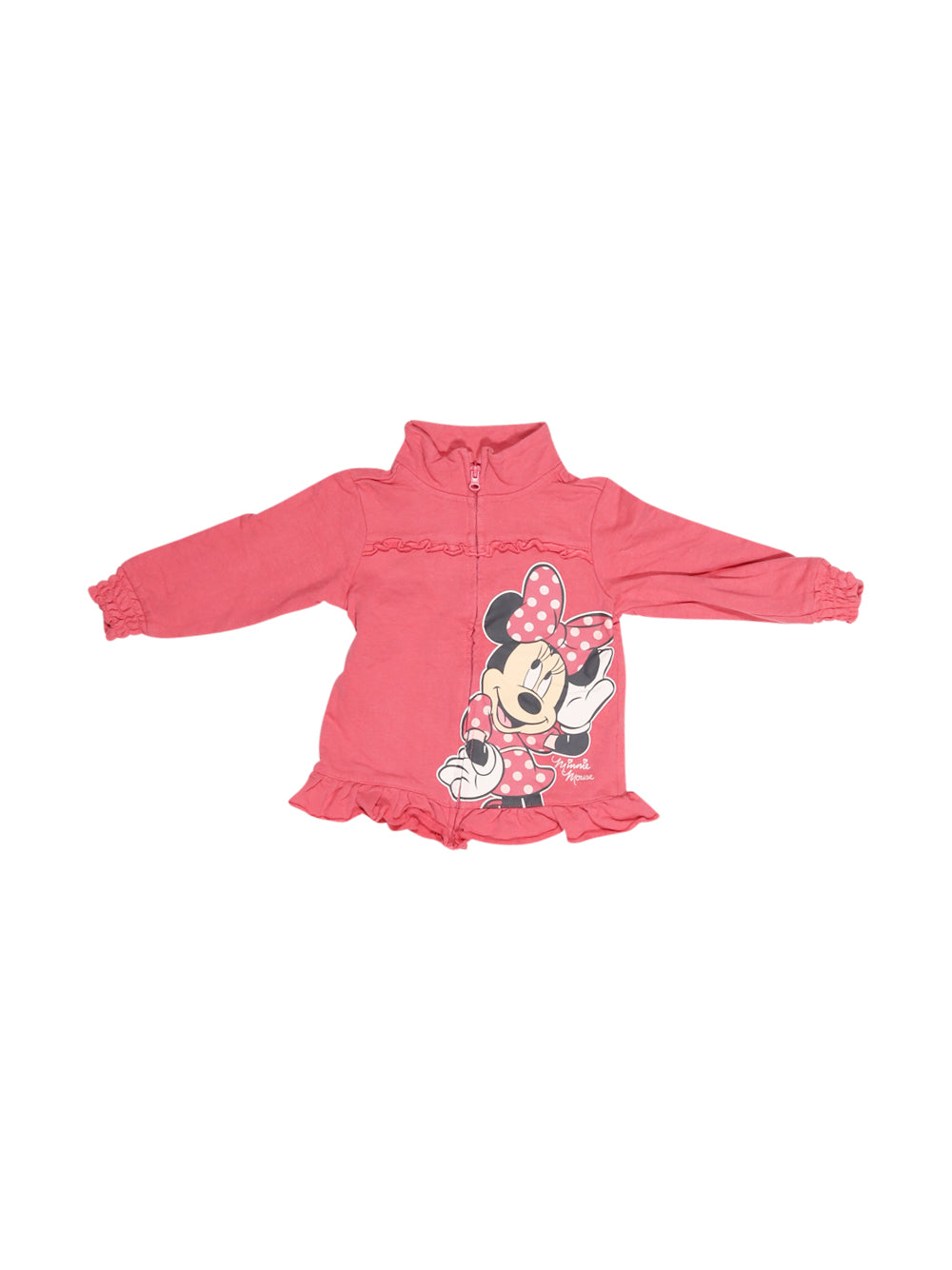 Front photo of Preloved Disney Pink Girl's sweatshirt - size 12-18 mths