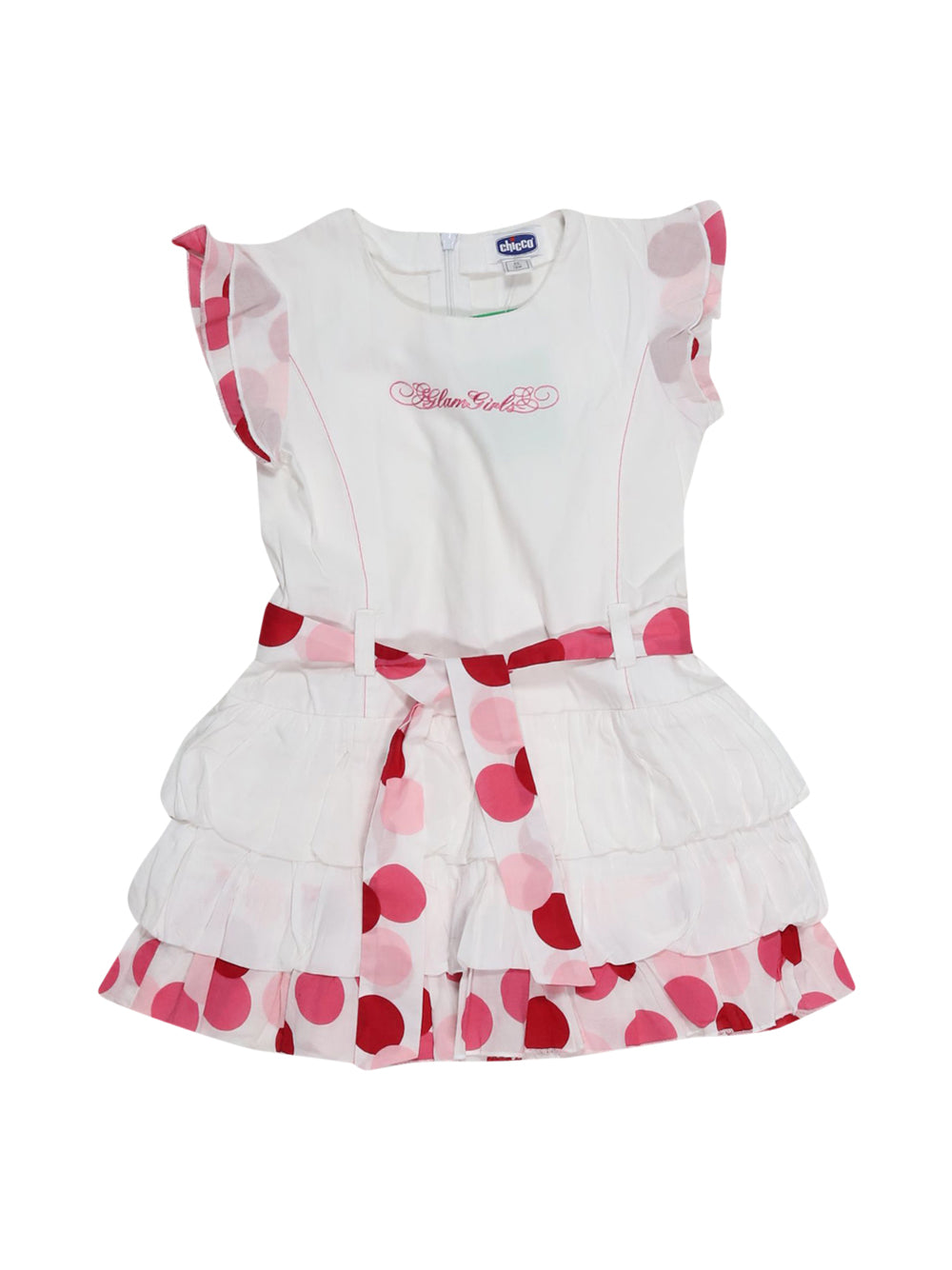 Front photo of Preloved Chicco White Girl's dress - size 12-18 mths