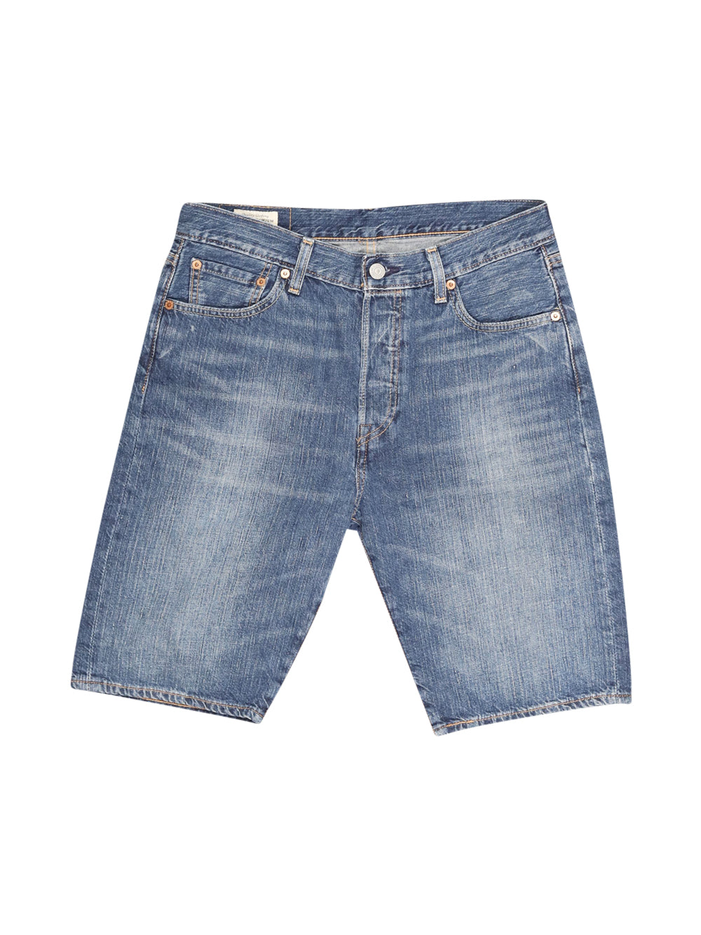 Front photo of Preloved Levi's Blue Man's shorts - size 38/M