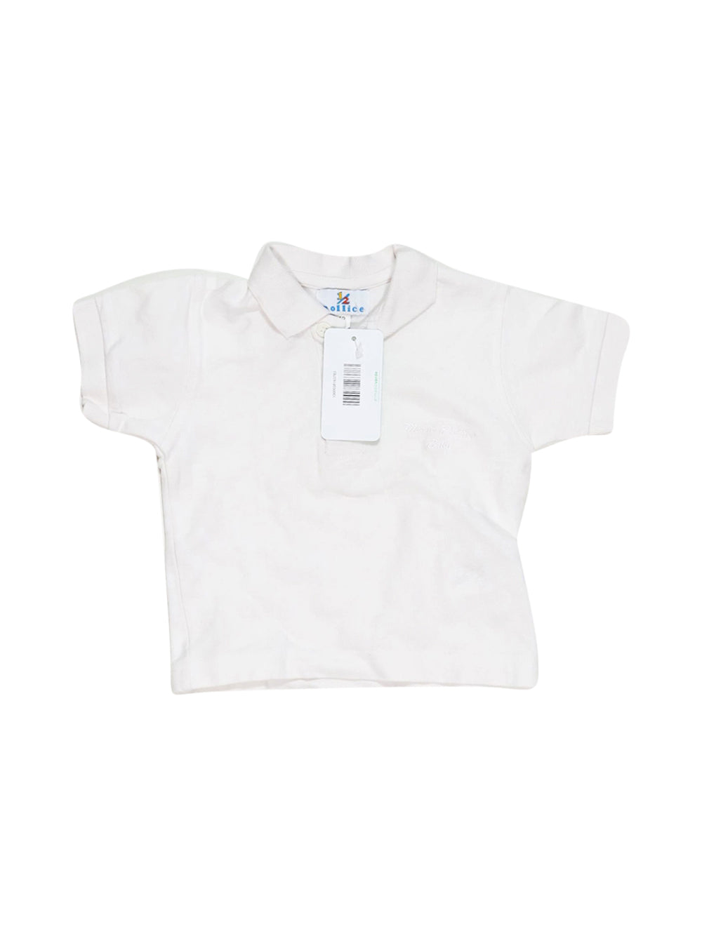 Front photo of Preloved 1/2 Pollice White Girl's polo - size 9-12 mths