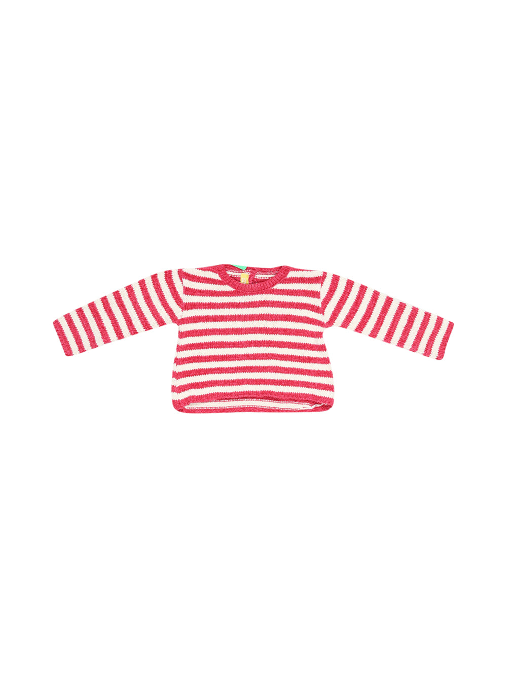 Front photo of Preloved Chicco Pink Girl's sweater - size 12-18 mths