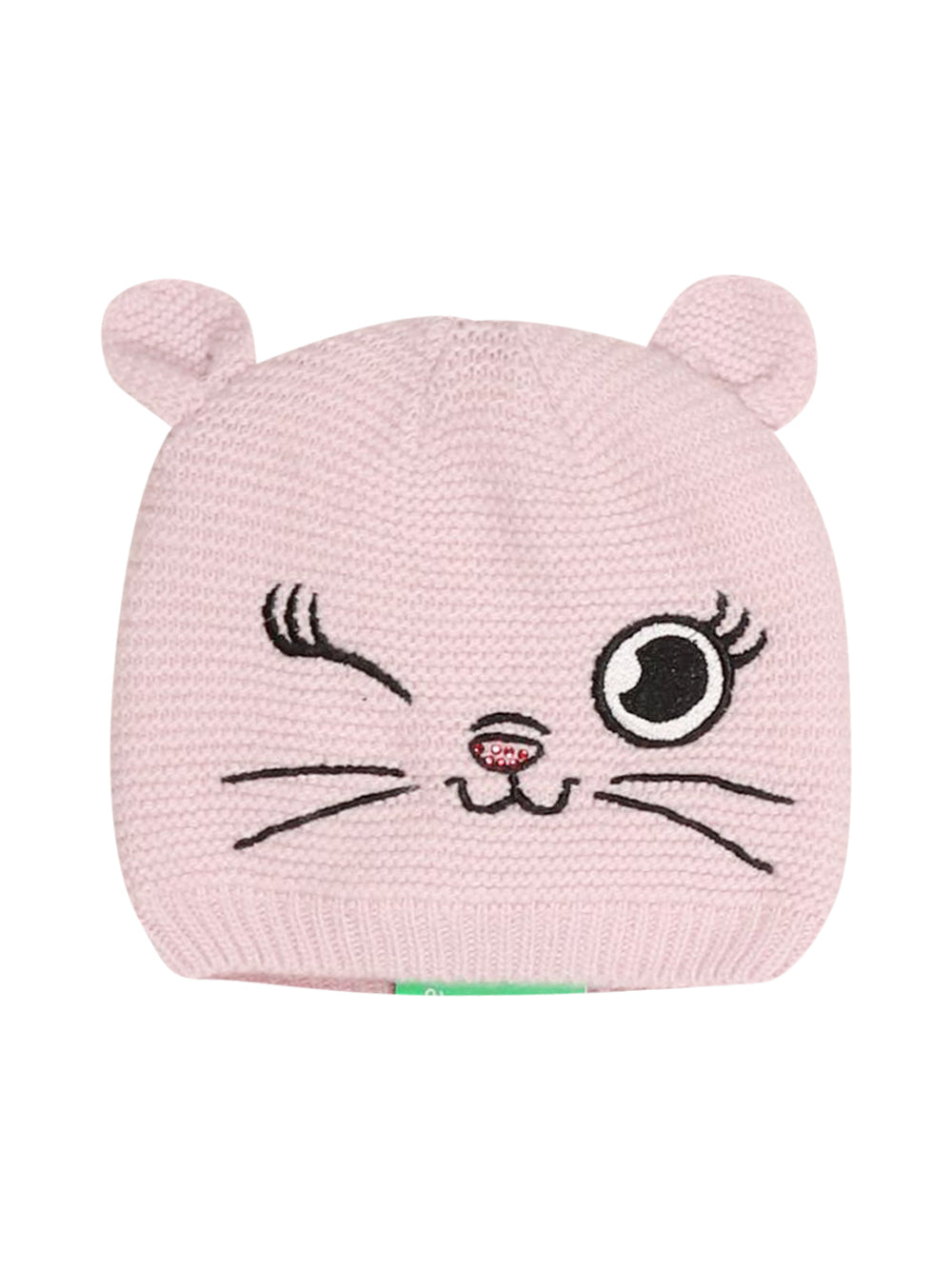 Front photo of Preloved Monnalisa Pink Girl's hat - size 18-24 mths
