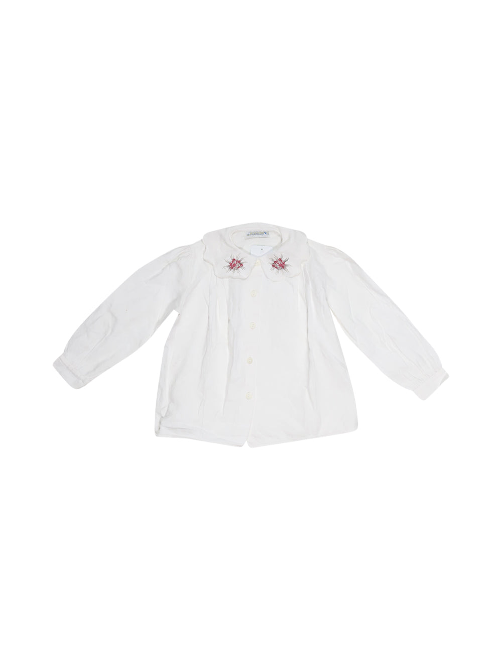 Front photo of Preloved florens White Girl's shirt - size 5-6 yrs