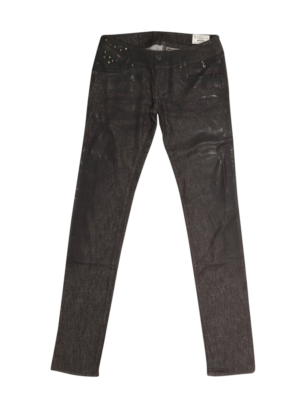 Front photo of Preloved Diesel Black Woman's trousers - size 10/M