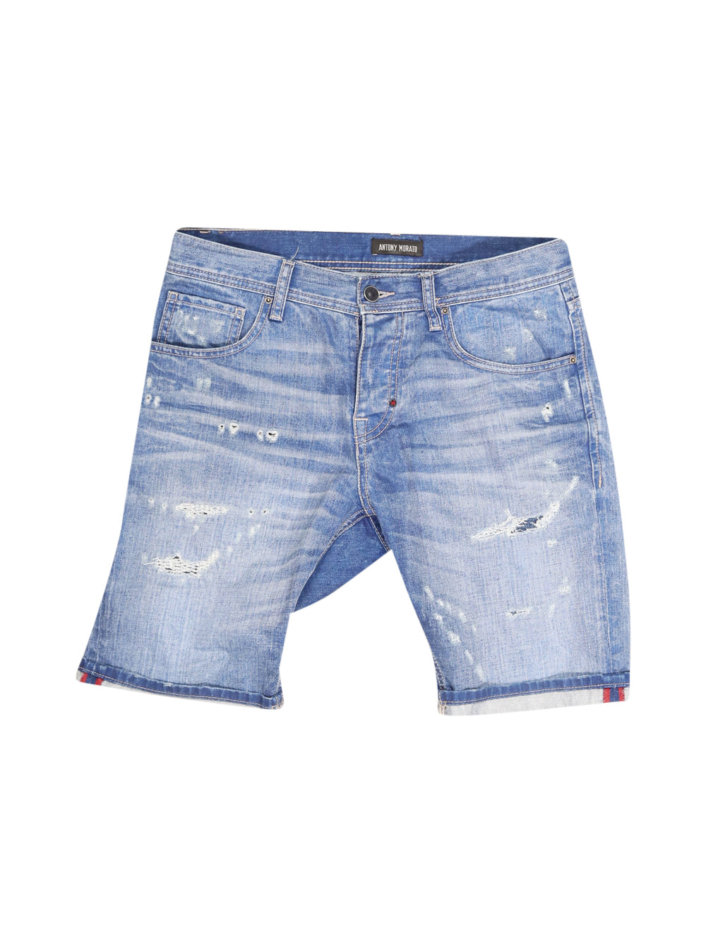 Front photo of Preloved Antony Morato Blue Man's shorts - size 34/XS
