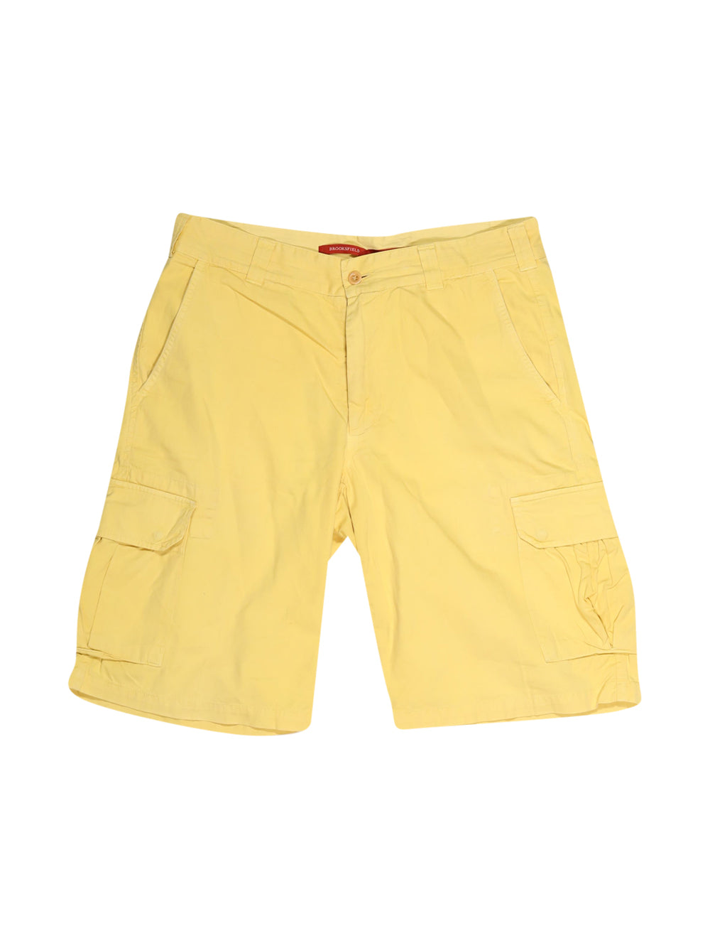 Front photo of Preloved Brooksfield Yellow Man's shorts - size 40/L