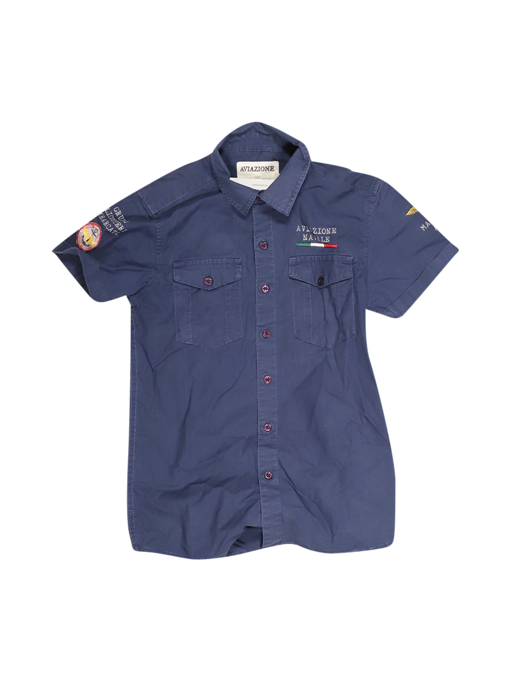 Front photo of Preloved Aviazione Navale (Marina Militare) Blue Boy's shirt - size 7-8 yrs