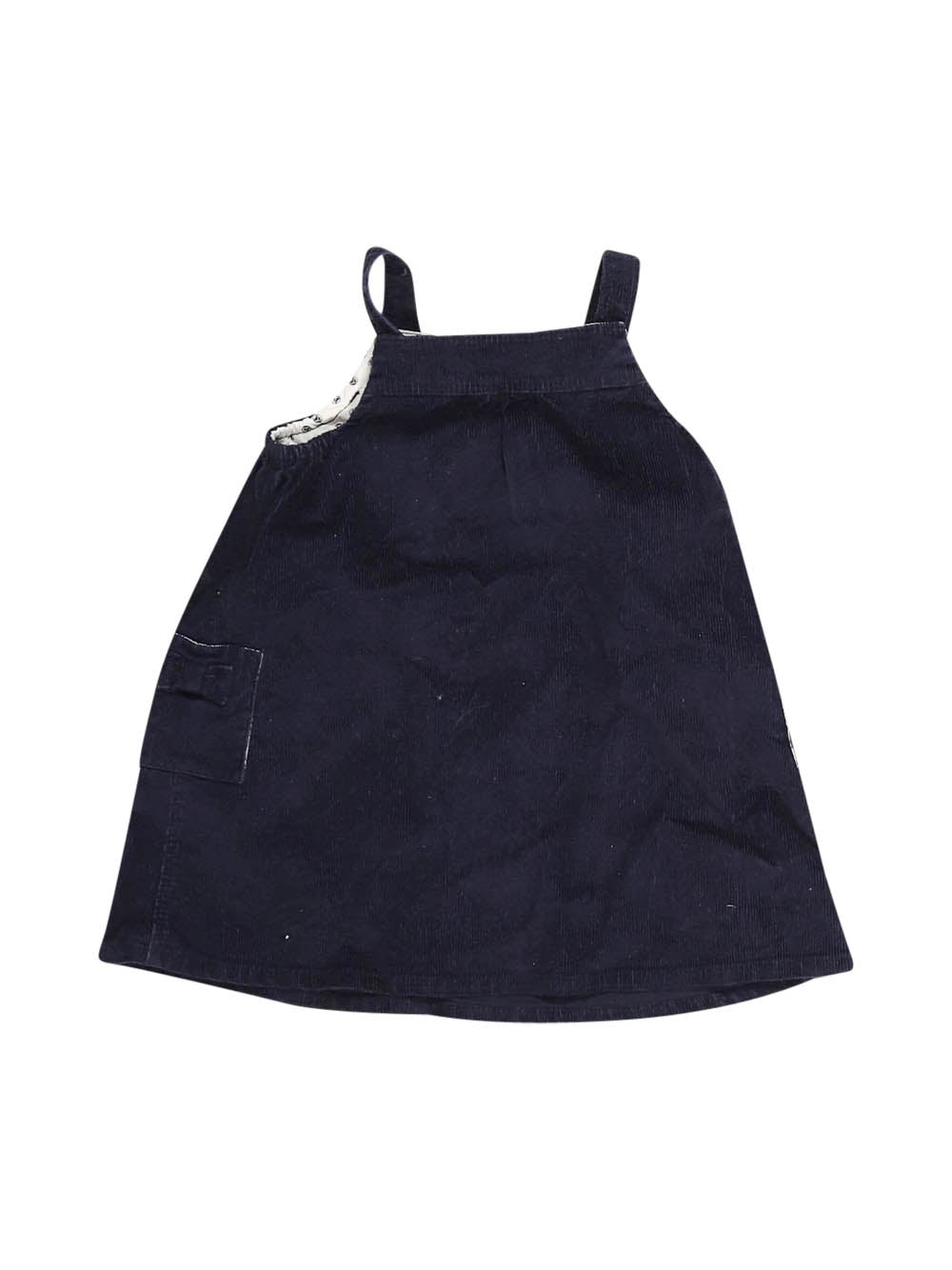 Front photo of Preloved Petit Bateau Blue Girl's dress - size 9-12 mths