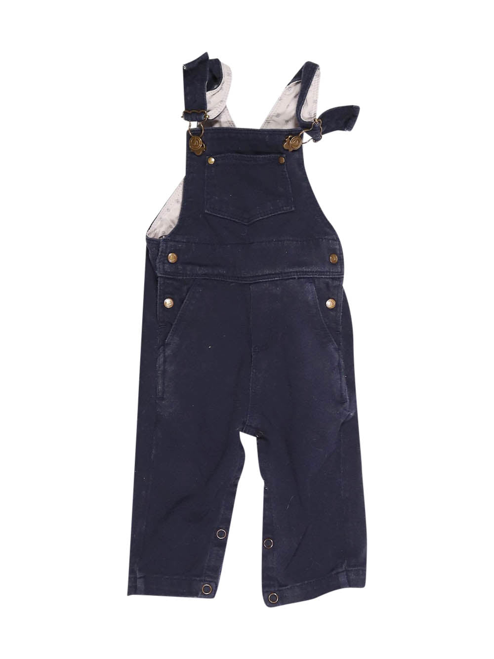 Front photo of Preloved Petit Bateau Blue Boy's overalls - size 12-18 mths