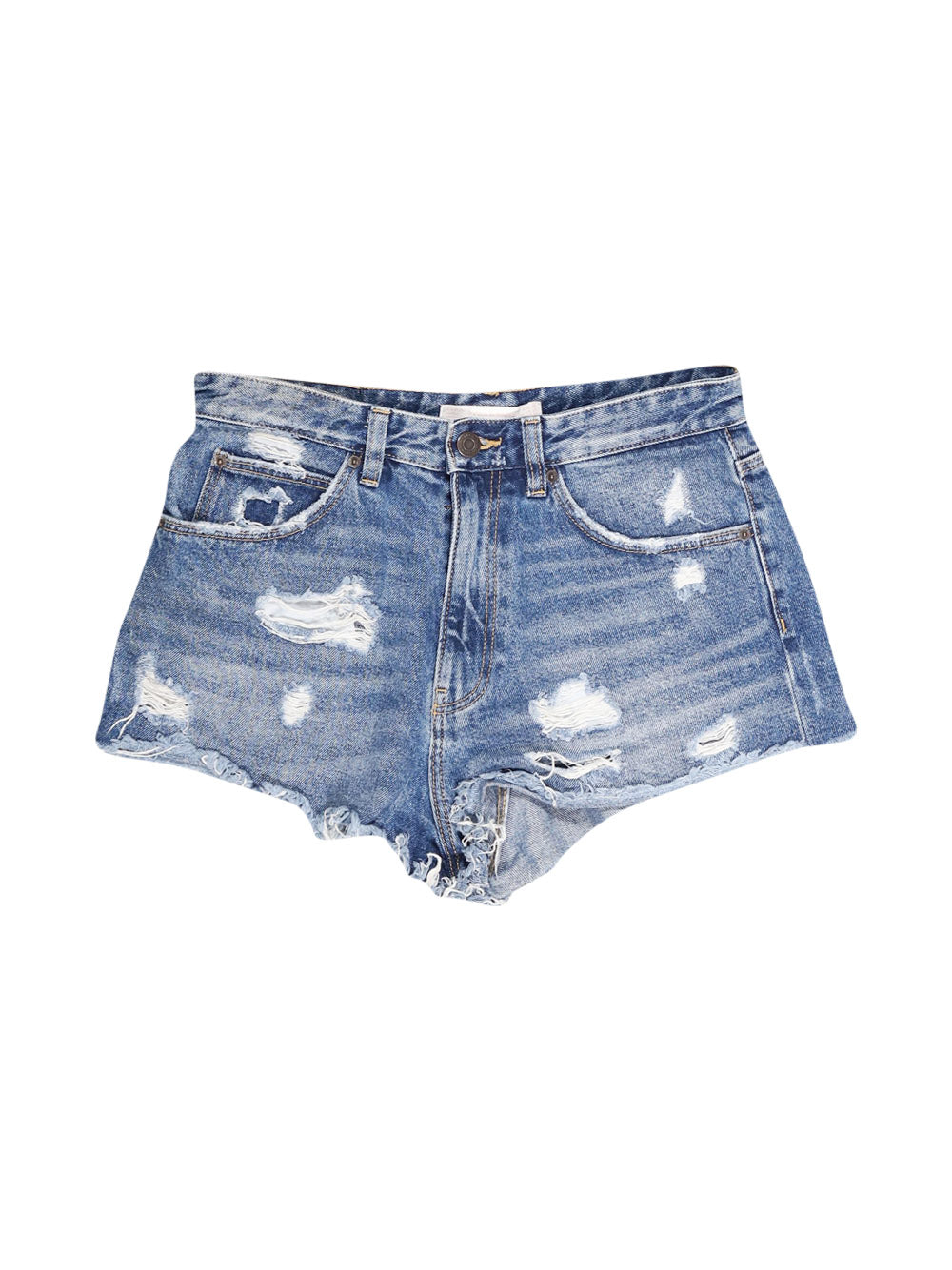 Front photo of Preloved Zara Blue Woman's shorts - size 10/M