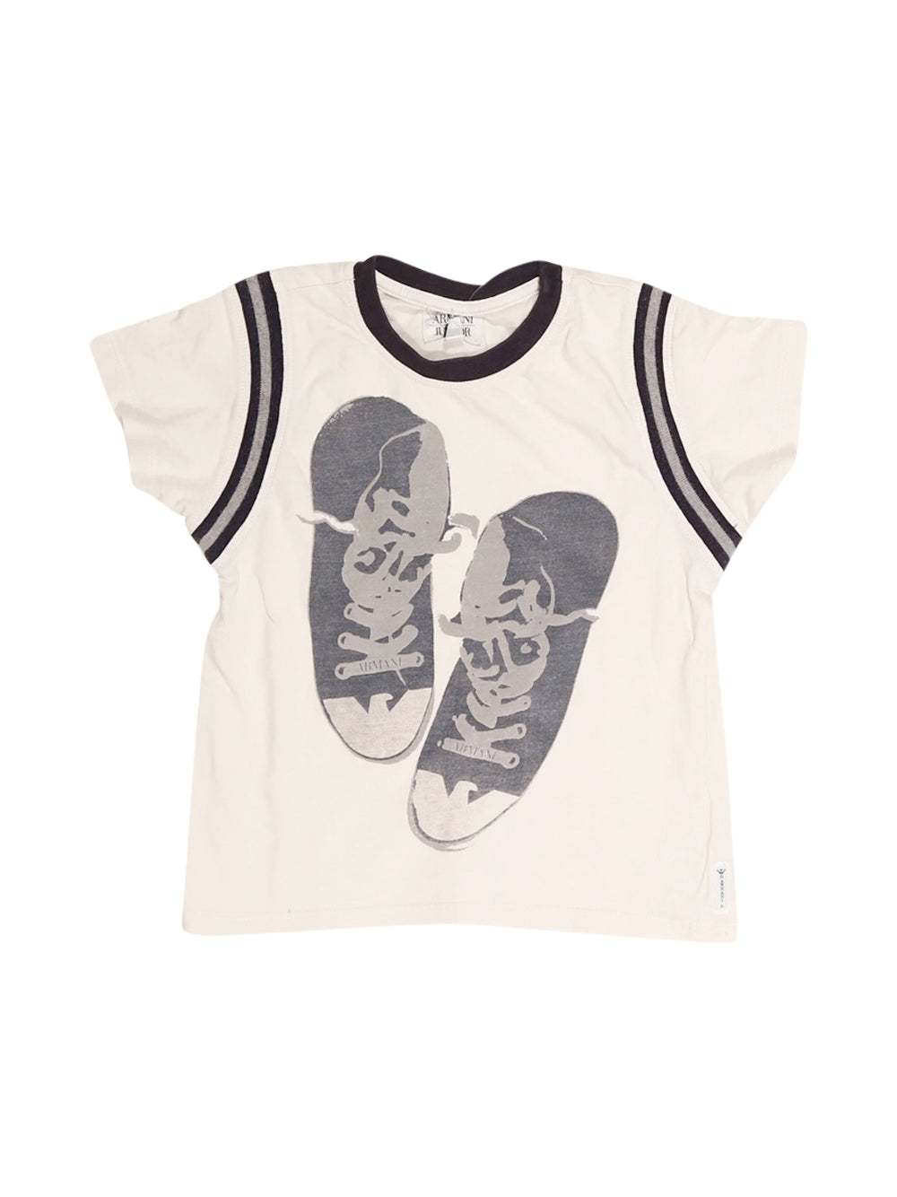 Front photo of Preloved Armani White Boy's t-shirt - size 18-24 mths