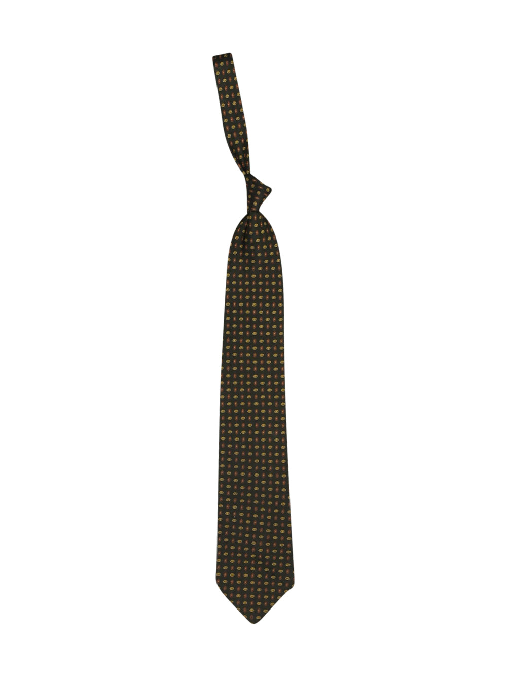 Front photo of Preloved gherardini Green Man's tie - size one-size
