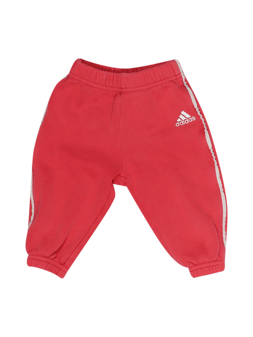 Front photo of Preloved Adidas Pink Girl's trousers - size 9-12 mths
