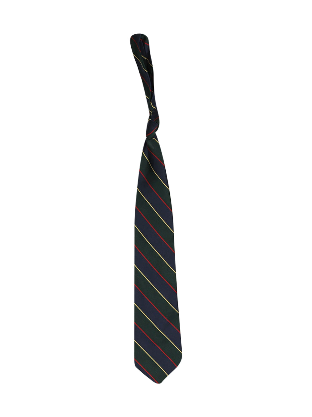 Front photo of Preloved Brooks Brothers Green Man's tie - size one-size