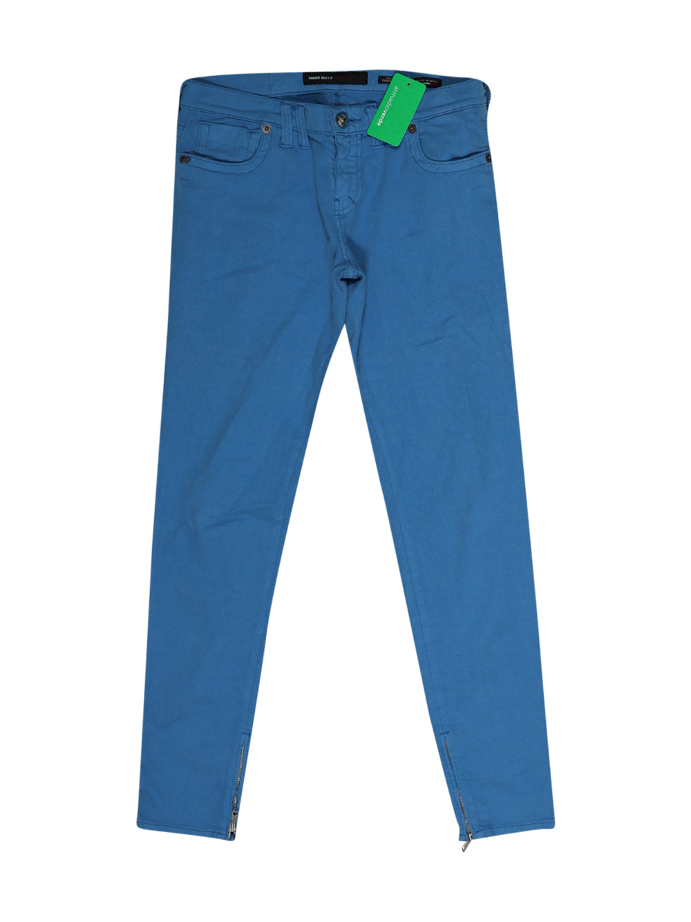 Front photo of Preloved Miss Sixty Light-blue Woman's trousers - size 12/L