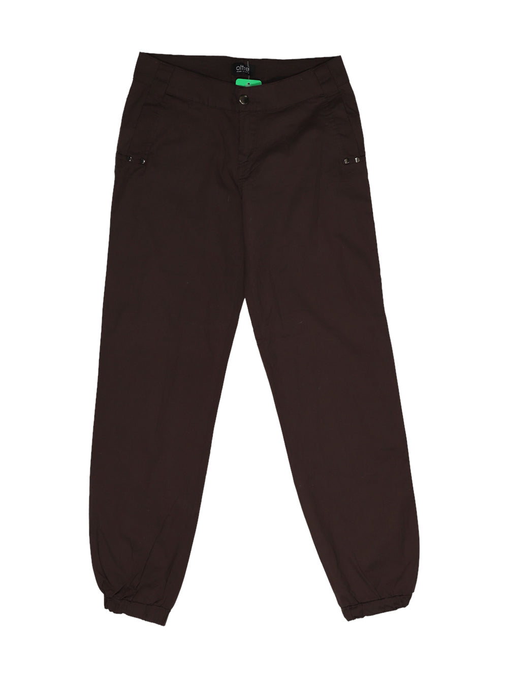 Front photo of Preloved Oltre Brown Woman's trousers - size 10/M