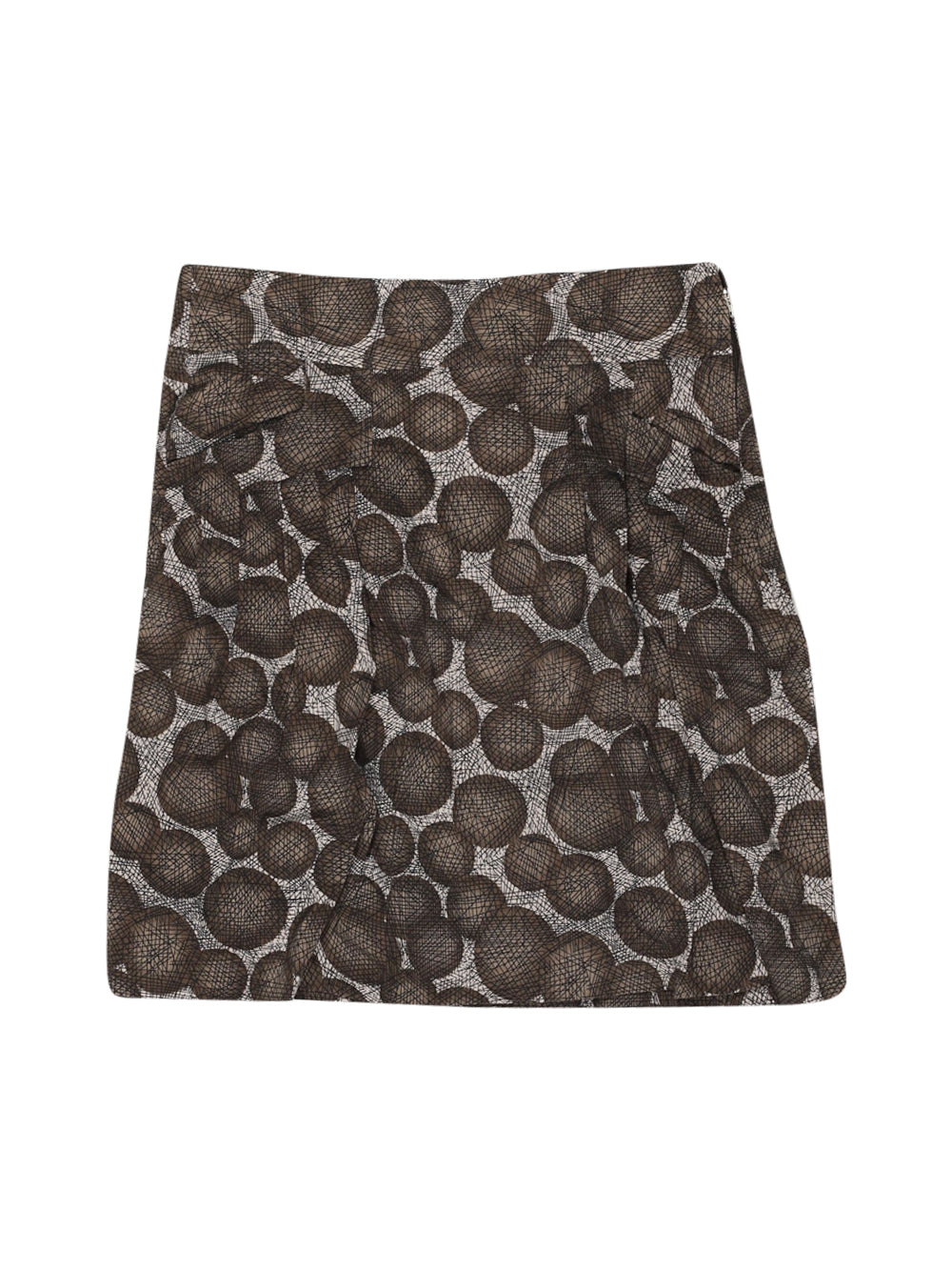 Front photo of Preloved Sisley Brown Woman's skirt - size 10/M