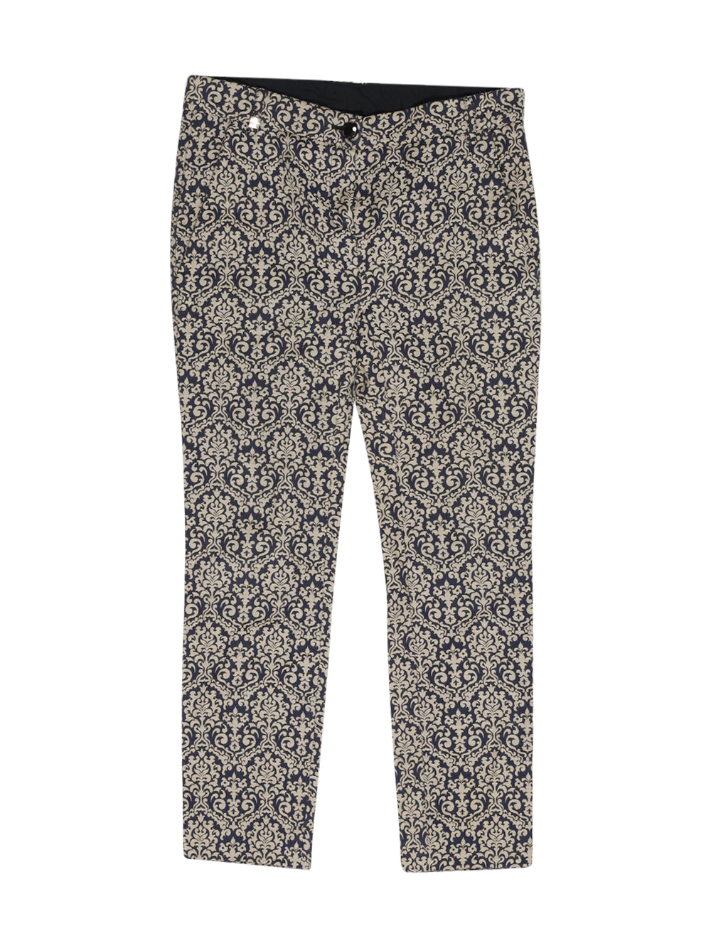 Front photo of Preloved Pinko Blue Woman's trousers - size 6/XS
