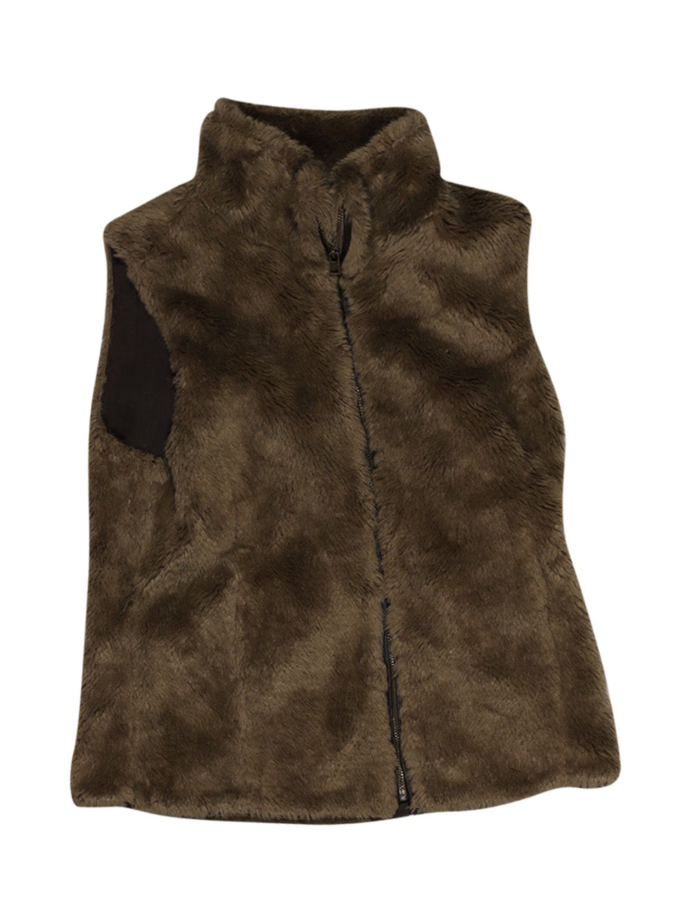 Front photo of Preloved Zara Brown Girl's sleeveless jacket - size 9-10 yrs