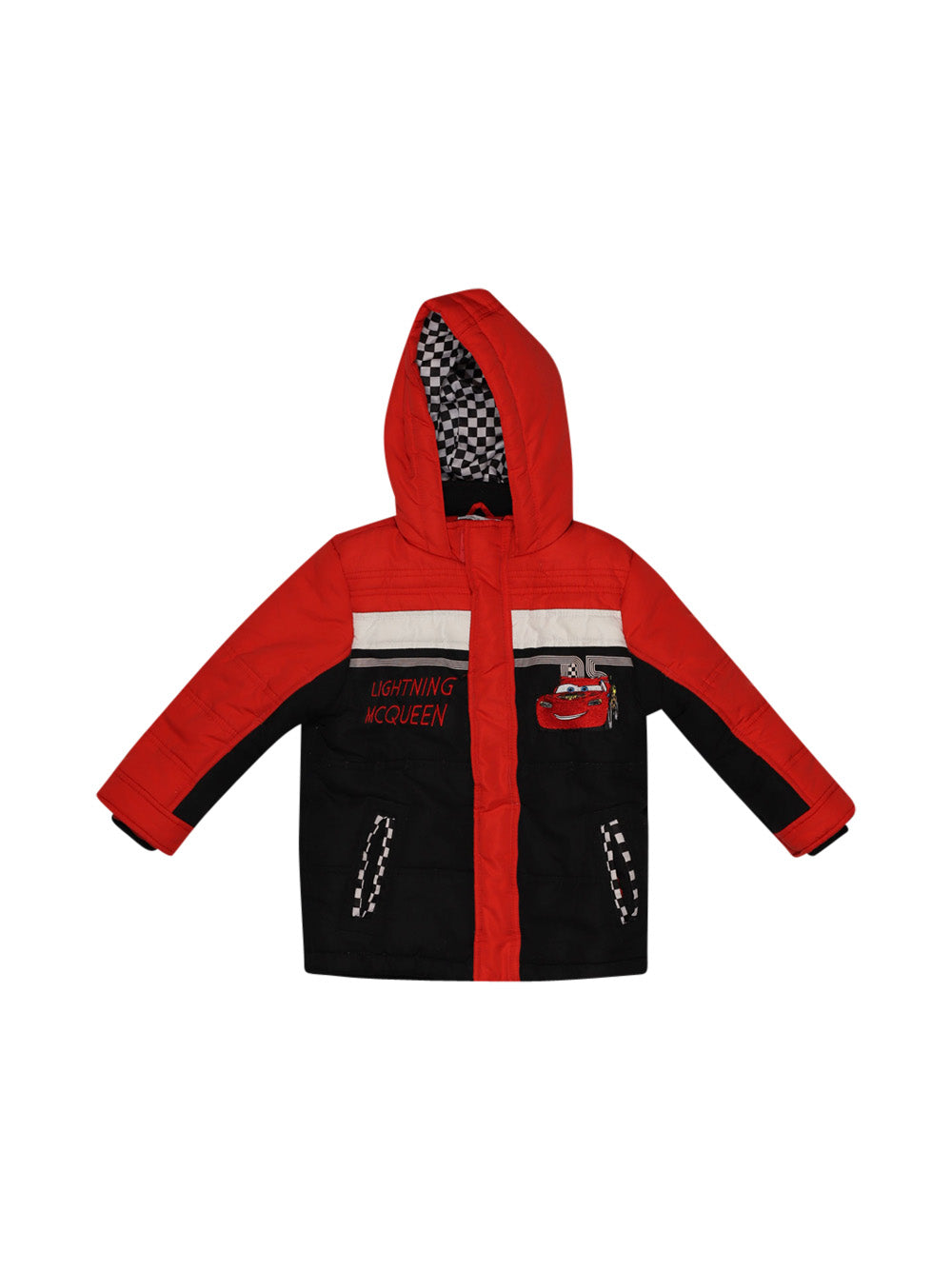 Front photo of Preloved Disney Red Boy's jacket - size 3-4 yrs