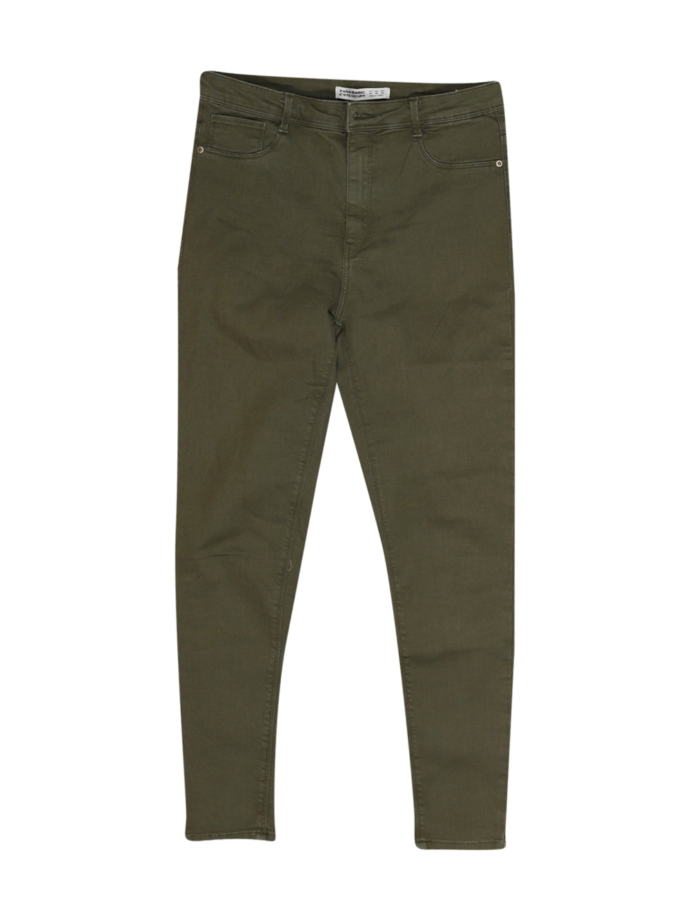 Front photo of Preloved Zara Green Woman's trousers - size 14/XL
