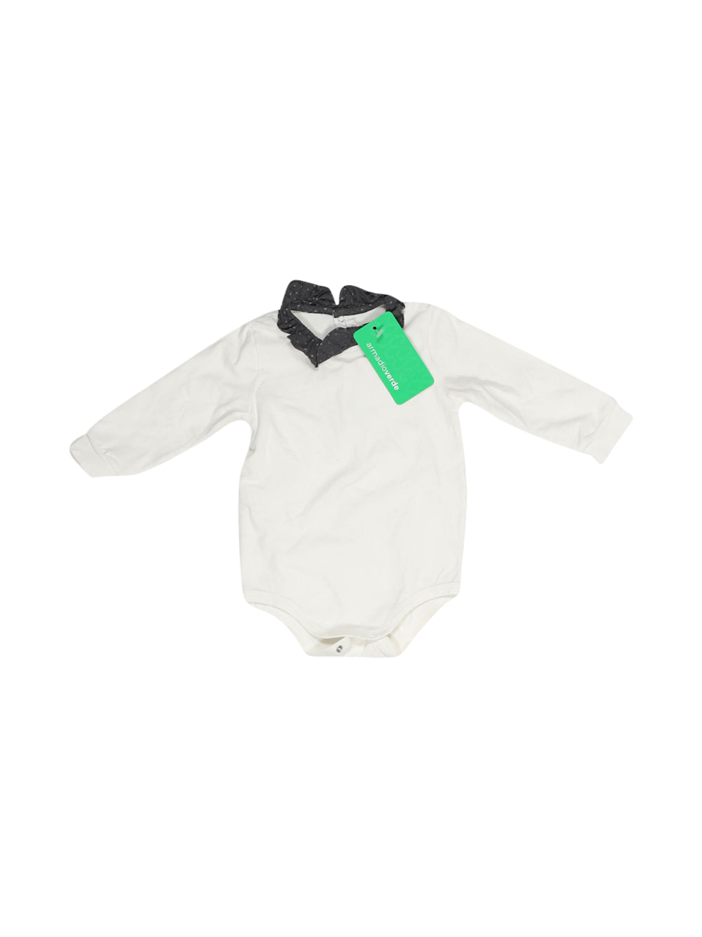 Front photo of Preloved Il Gufo White Girl's body - size 6-9 mths