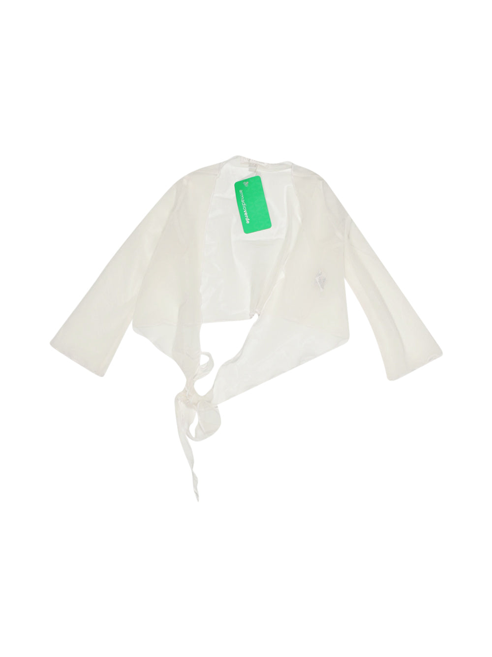 Front photo of Preloved Petit Patapon White Girl's bolero - size 3-4 yrs