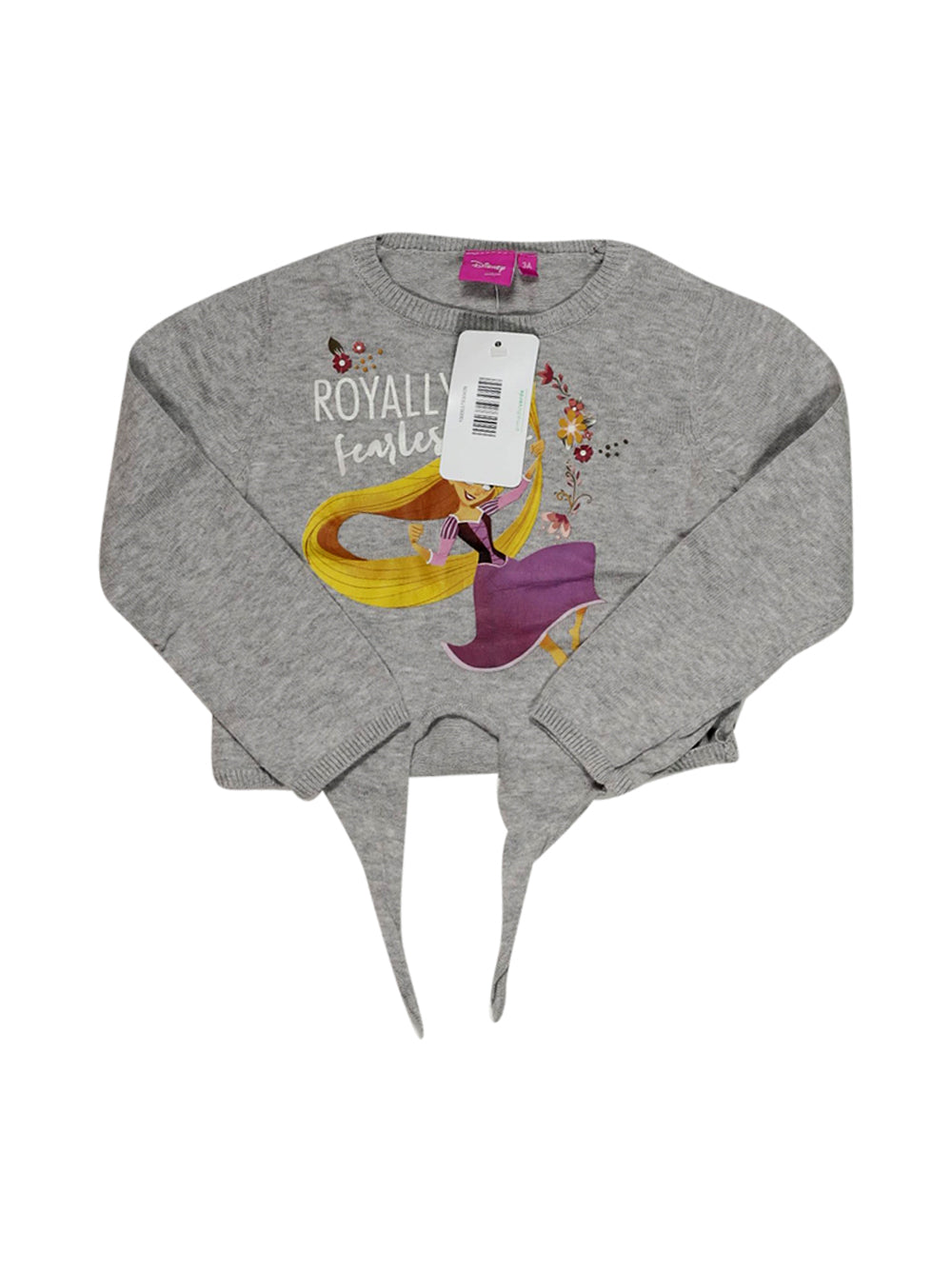 Front photo of Preloved Disney Grey Girl's sweater - size 2-3 yrs