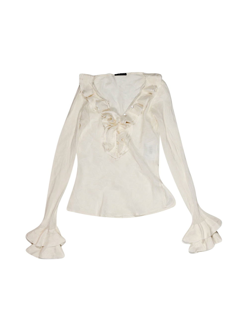 Front photo of Preloved Sisley White Girl's shirt - size 10-12 yrs
