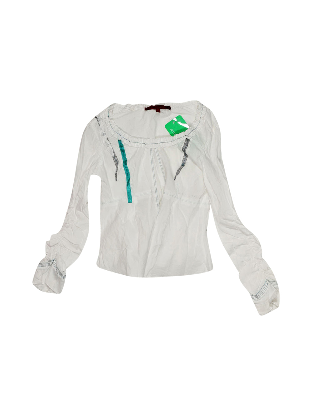 Front photo of Preloved le jean de marithé White Girl's long sleeved shirt - size 3-4 yrs