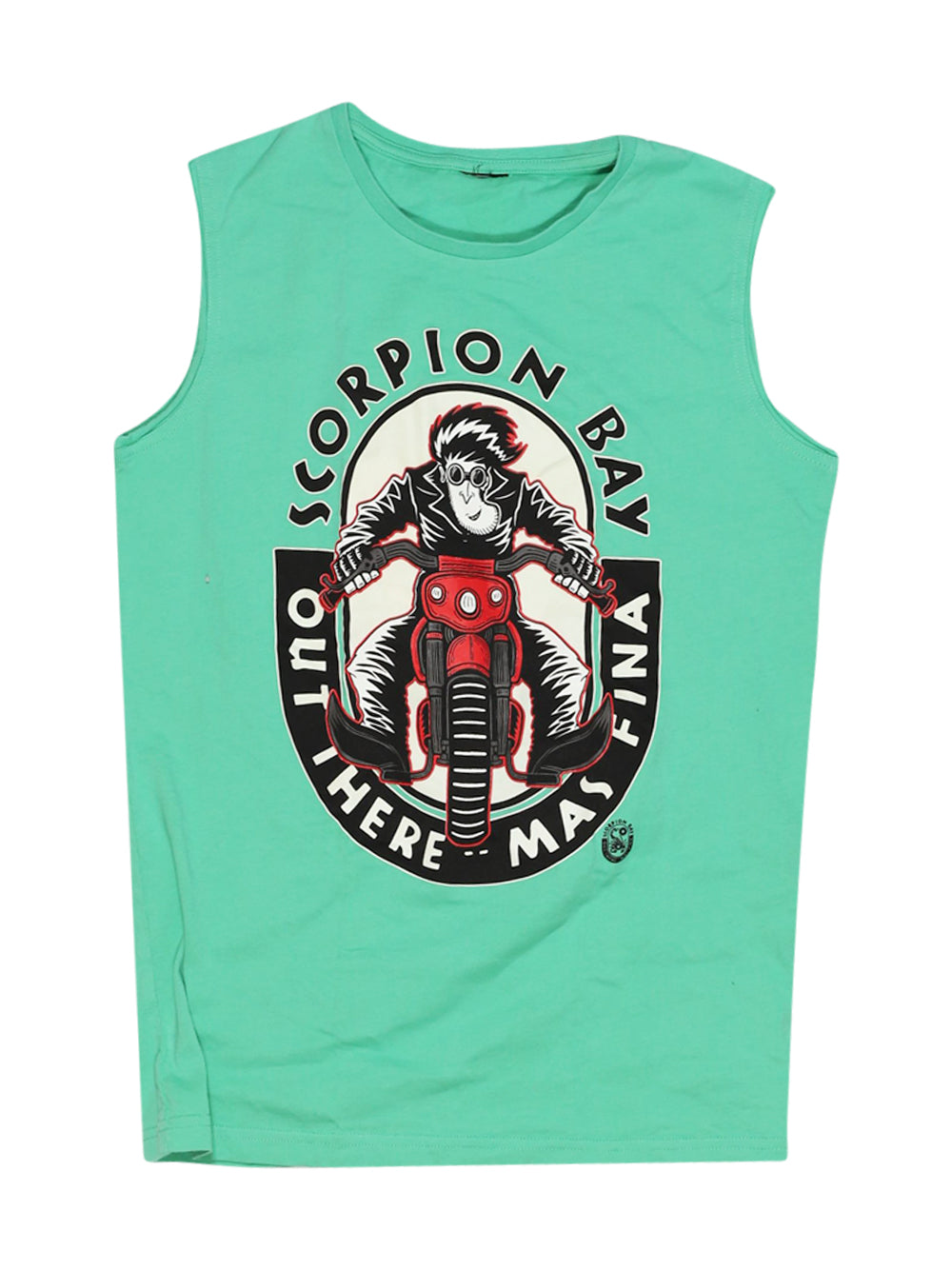 Front photo of Preloved Scorpion Bay Green Boy's sleeveless top - size 10-12 yrs