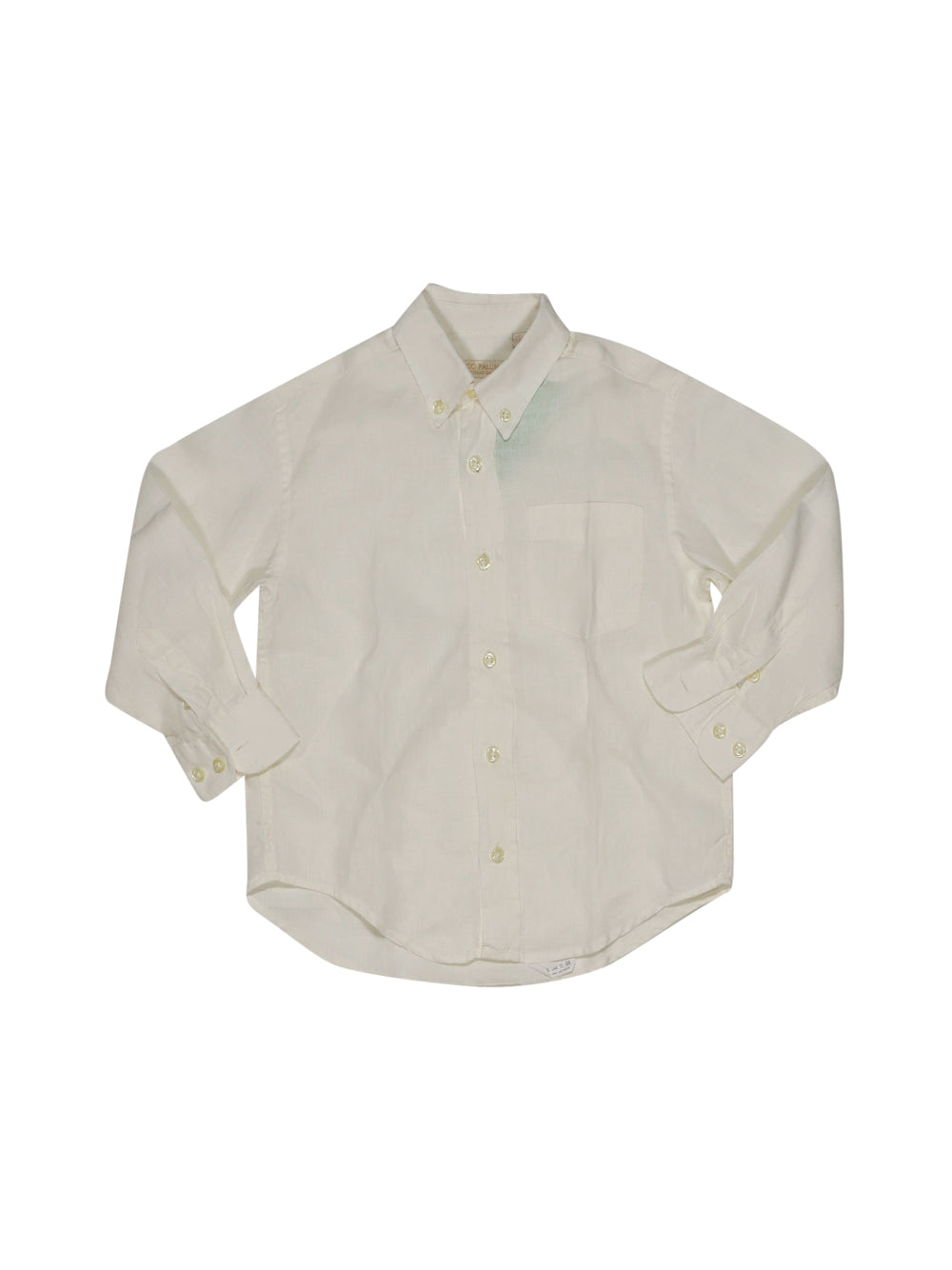 Front photo of Preloved I Pinco Pallino White Boy's shirt - size 4-5 yrs
