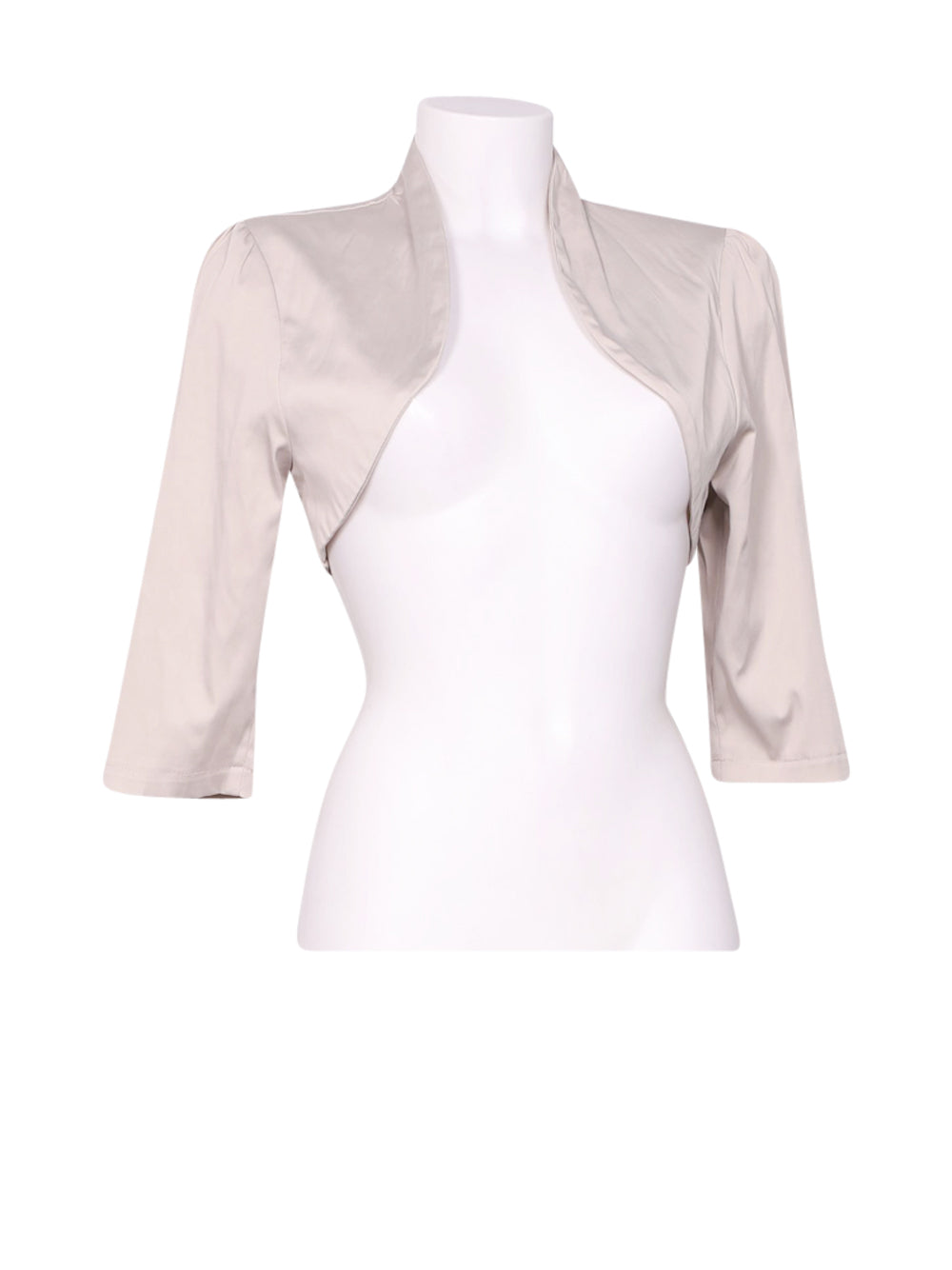 Front photo of Preloved Artigli Beige Woman's bolero - size 12/L