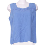 Front photo of Preloved romy Blue Woman's sleeveless top - size 16/XXL