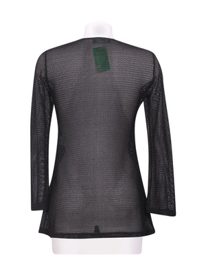 Back photo of Preloved Jus d'Orange Black Woman's long sleeved shirt - size 12/L